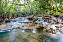 Huay Mae Kamin Waterfall, Tailandia Immagini Stock Libere da Diritti