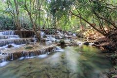Huay Mae Kamin Waterfall, Tailandia Fotografia Stock Libera da Diritti