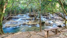 Huay Mae Kamin Waterfall, Tailandia Fotografia Stock