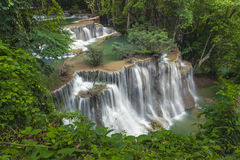 Huay mae kamin waterfall in thailand Stock Photo