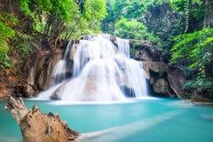 Huay Mae Kamin Waterfall, Thailand Royalty-vrije Stock Fotografie