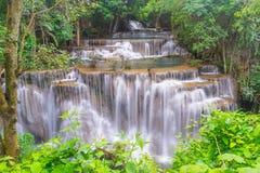 Huay Mae Kamin waterfall. Thailand Stock Photo