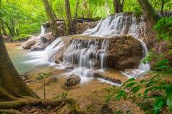 Huay Mae Kamin waterfall. Thailand Stock Image