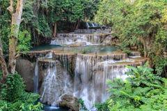 Huay Mae Kamin Waterfall, Thailand arkivfoton