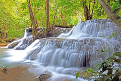 Huay Mae Kamin Waterfall in Thailand. Huay Mae Kamin Waterfall in Kanchanaburi Stock Photo