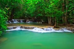 Huay Mae Kamin waterfall in Thailand Royalty Free Stock Image