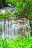 Huay Mae Kamin waterfall, Thailand Royalty Free Stock Images
