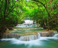 Huay Mae Kamin waterfall, Thailand Royalty Free Stock Image