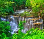Huay Mae Kamin waterfall, Thailand Stock Image