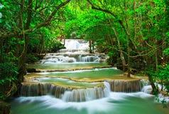 Huay Mae Kamin waterfall, Thailand Stock Photos