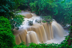 Huay Mae Kamin waterfall, Thailand Royalty Free Stock Photography