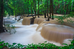 Huay Mae Kamin waterfall, Thailand Stock Photography