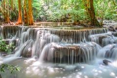 Huay Mae Khamin瀑布 库存照片