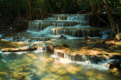 Huay Mae Khamin瀑布 库存图片