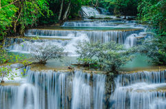 Huay Mae Khamin - cascata. Fotografie Stock Libere da Diritti