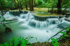 Huay Mae Khamin - cascata Fotografie Stock Libere da Diritti