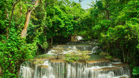 Huay Mae Khamin, Paradise Waterfall located in deep forest of Thailand. Stock Images