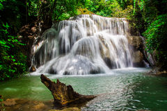 Huay Mae Khamin, Paradise Waterfall located in deep forest of Thailand Royalty Free Stock Images