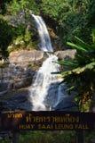 Huay Mae Khamin Wasserfall, Thailand lizenzfreies stockfoto