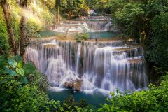 Huay Mae Khamin Waterfall photos libres de droits