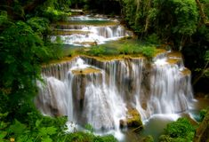 Huay Mae Khamin Waterfall, Royalty Free Stock Image
