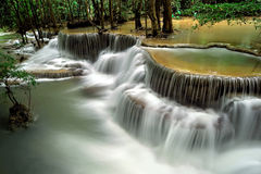 Huay Mae Khamin Waterfall Royalty Free Stock Images