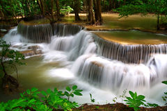 Huay Mae Khamin waterfall Royalty Free Stock Photos