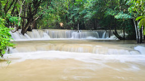 Huay Mae Khamin waterfall Royalty Free Stock Photo