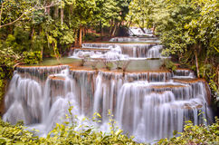 Huay Mae Khamin Waterfall Fotos de Stock Royalty Free