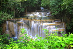 Huay Mae Khamin Waterfall Fotografia Stock Libera da Diritti