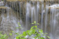 Huay Mae Khamin Waterfall Immagini Stock Libere da Diritti