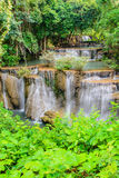 Huay Mae Khamin waterfall, famous natural tourist attraction in Royalty Free Stock Photography