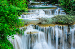 Huay Mae Khamin - Waterfall, Flowing Water, paradise in Thailand Royalty Free Stock Images