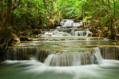 Huay Mae Khamin Waterfall. In Kanchanaburi Province, Thailand Stock Photography