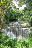 Huay Mae khamin waterfall in National Park Srinakarin, Kanchanab Royalty Free Stock Photography