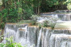 Huay Mae khamin waterfall in National Park Srinakarin, Kanchanab Stock Photo
