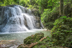 Huay Mae khamin waterfall in National Park Srinakarin, Kanchanab Stock Photography