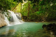Huay Mae Khamin waterfall in National Park,Thailand. Stock Photography