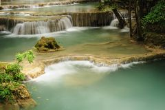 Huay Mae Khamin waterfall in National Park,Thailand. Stock Image