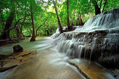 Huay Mae Khamin Waterfall ,Thailand Royalty Free Stock Photos