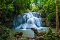Huay Mae Khamin waterfall in thailand Royalty Free Stock Photo