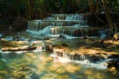 Huay Mae Khamin Waterfall. Tier 6 of Huay Mae Khamin waterfall in Kanchanaburi, Thailand Stock Image