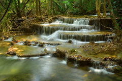Huay Mae Khamin Waterfalls in Thailand Stock Image