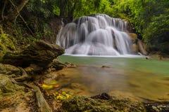 Huay Maekamin vattenfallrad 3 Wang Napha i Kanchanaburi, Tha Royaltyfri Bild