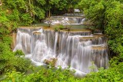 Huay Maekamin Waterfall Tier 4 Chatkaew in Kanchanaburi, Thail Royalty Free Stock Photography
