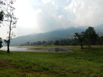 Huay Tueng Tao lake in Chiang mai Stock Photo