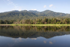 Huay Tung Tao Lake ,chiangmai Thailand Royalty Free Stock Photography