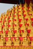 Huay Xai,老挝- 2015年3月03日:VAT CHOME KHAOU MANIRATN 一著名 图库摄影
