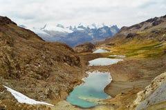 huayhuash湖秘鲁 库存照片