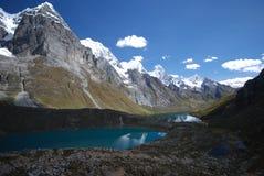 Huayhuash lakes stock photos